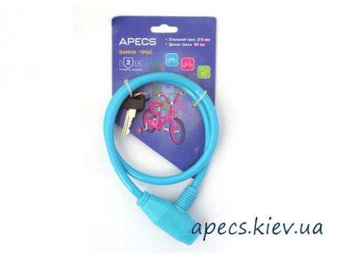 Замок велосипедный APECS PD-81-65CM-BLUE
