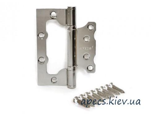 Петля накладна APECS 100 * 63 * 2-B2-Steel-CR