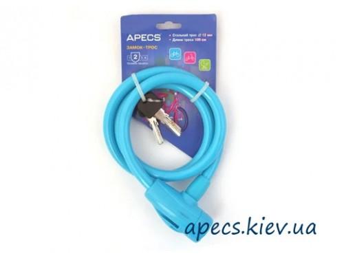 Замок велосипедный APECS PD-84-100CM-BLUE