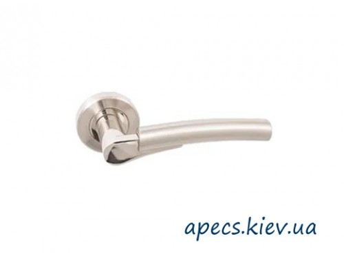 Ручки на розетке APECS H-0421-Z-NIS/NI никель матовый/никель