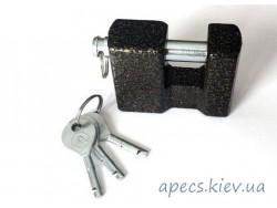 Замок навесной ASPECT ЗН-П-80 3 ключа