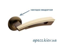 Ручки на розетке APECS H-0599-A-SQUARE-CF/GM