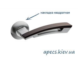 Ручки на розетке APECS H-0599-A-SQUARE-CRM/BW