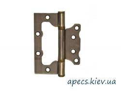 Петли накладные APECS 100*75*2,5-B2-V2-Steel-AB (бабочка)