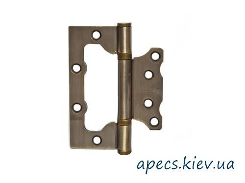 Петлі накладні APECS 100 * 75 * 2,5-B2-V2-Steel-AB (метелик)