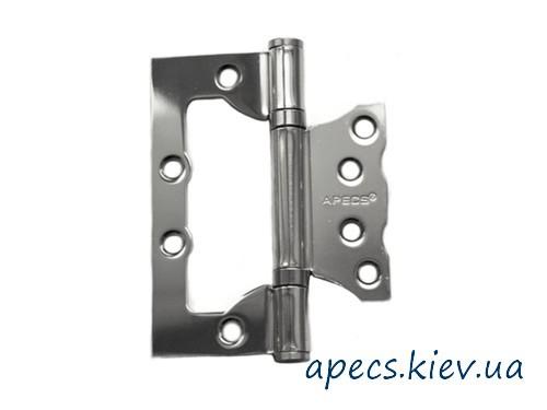 Петлі накладні APECS 100 * 75 * 2,5-B2-V2-Steel-CR (метелик)
