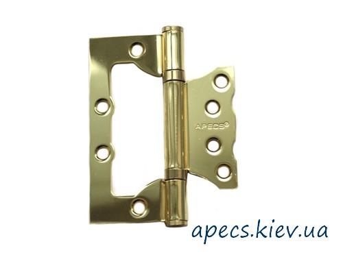 Петли накладные APECS 100*75*2,5-B2-V2-Steel-G (бабочка)