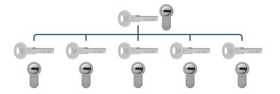 Одноуровневая мастер-система Гардиан под мастер ключ