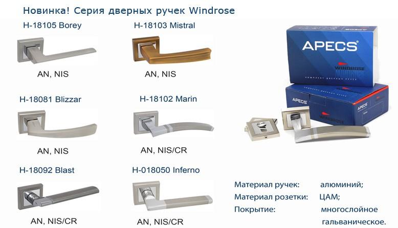 Дверные ручки серии Windrose